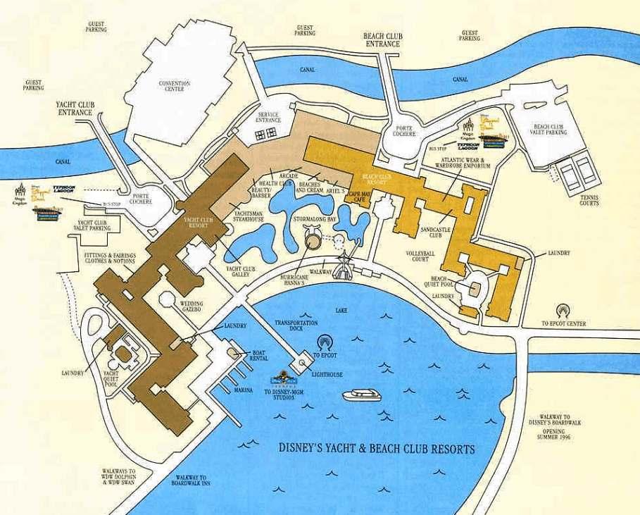 Caribbean Beach Disney World Map Tidal Treasures